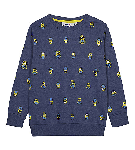 FABRIC FLAVOURS Minions characters cotton-blend jumper 3-8 years (Light+blue