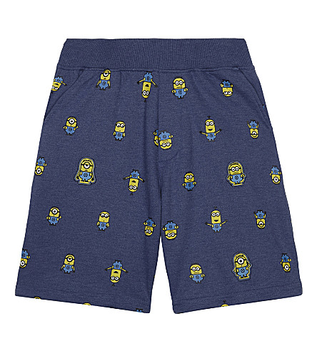 FABRIC FLAVOURS Minions characters cotton-blend shorts 3-8 years (Light+blue
