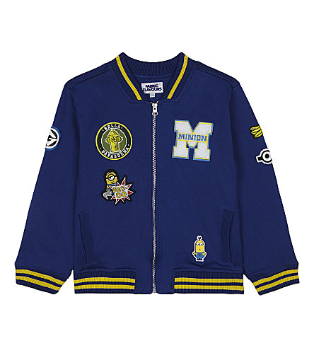 FABRIC FLAVOURS Minions varsity badge jacket 3-8 years (Blue