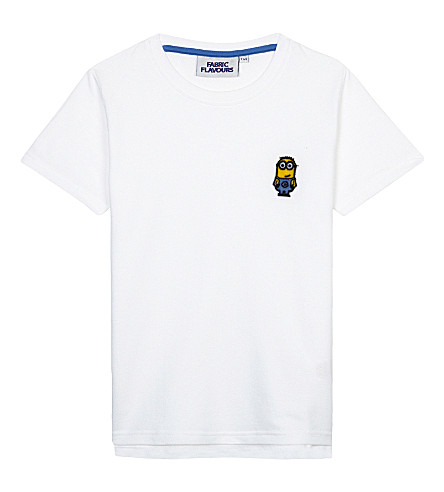 FABRIC FLAVOURS Minions tuft badge piqué cotton T-shirt (White