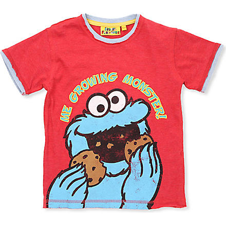 FABRIC FLAVOURS Cookie Monster t-shirt 1-6 years (Red