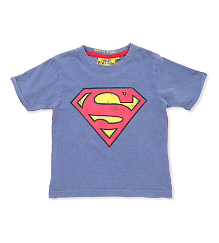 FABRIC FLAVOURS Superman T-shirt 3-8 years (Dark+blue