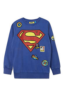 FABRIC FLAVOURS Superman badge jumper 3-10 years