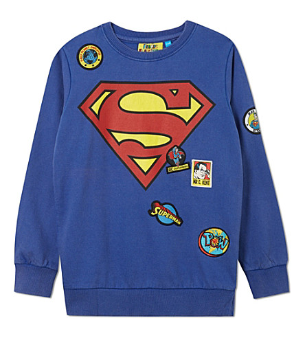 FABRIC FLAVOURS Superman badge jumper 3-10 years (Superman+blue