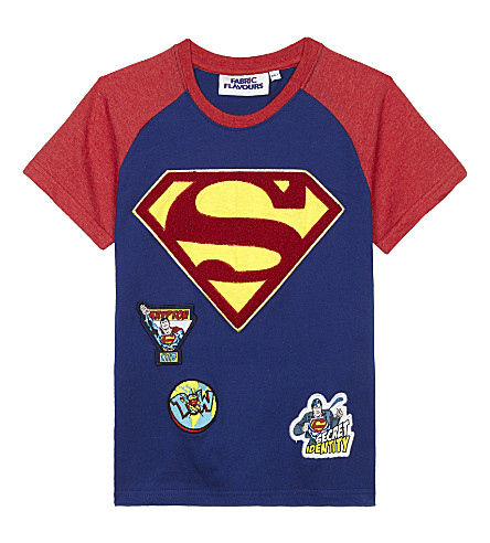 FABRIC FLAVOURS Superman cotton T-shirt 3-8 years (Blue