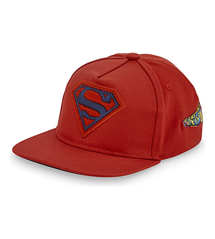 FABRIC FLAVOURS Superman cotton snapback cap (Red