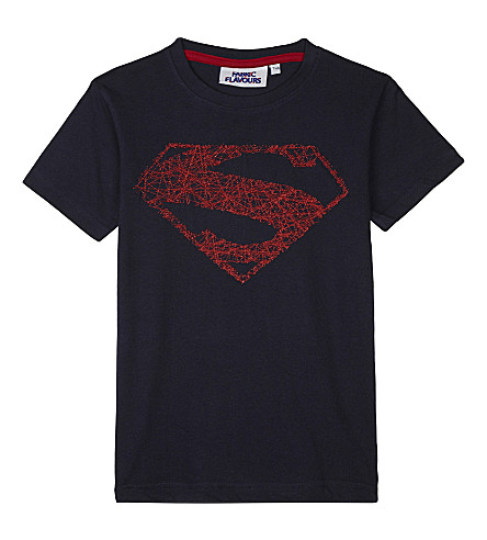 FABRIC FLAVOURS Superman motif cotton T-shirt 3-10 years (Navy
