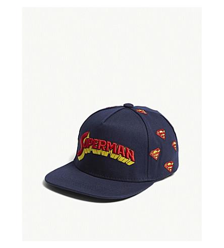 FABRIC FLAVOURS Superman retro logo cotton cap (Blue