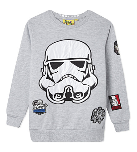 FABRIC FLAVOURS Stormtrooper jumper 3-10 years (Light+grey+marl