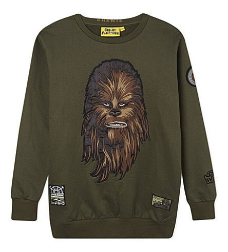 FABRIC FLAVOURS Chewbacca jumper 3-10 years (Dark+green+marl