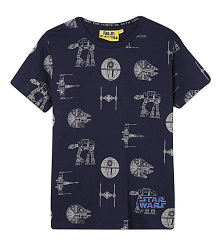 FABRIC FLAVOURS Star Wars printed t-shirt 3-10 years (Blue+marl