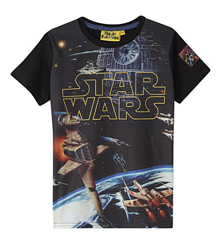 FABRIC FLAVOURS Star Wars logo t-shirt 3-10 years (Black