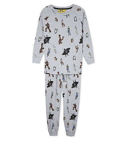 FABRIC FLAVOURS Star Wars repeat print pyjamas 3-10 years (Grey