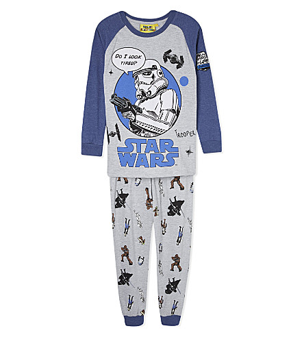 FABRIC FLAVOURS Stormtrooper pyjamas 3-10 years (Grey+&+blue