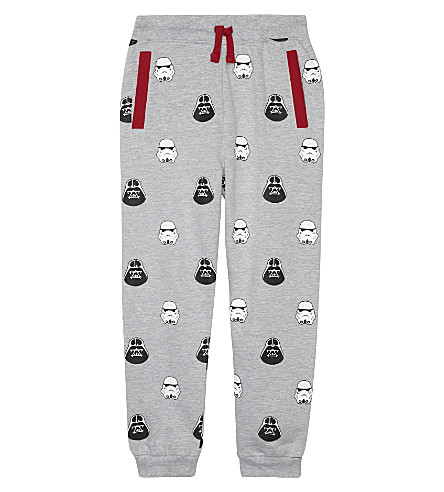 FABRIC FLAVOURS Vader & Trooper print cotton track pants 3-10 years (Grey