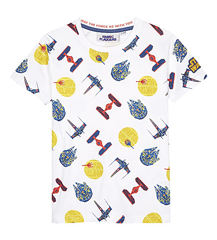 FABRIC FLAVOURS Star Wars ship cotton T-shirt 3-8 years (White