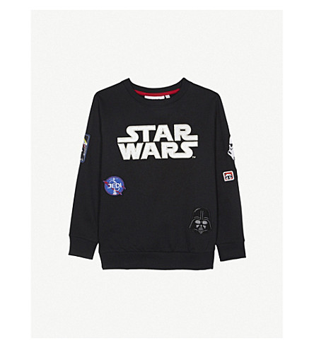 FABRIC FLAVOURS Star wars badge cotton jumper 3-10 years (Black