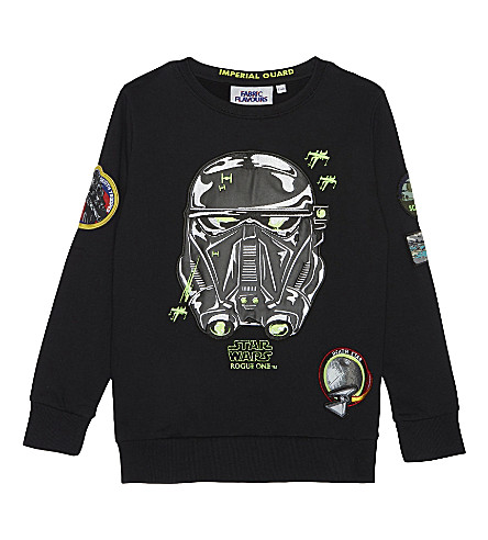 FABRIC FLAVOURS Death trooper cotton sweatshirt 3-10 years (Black