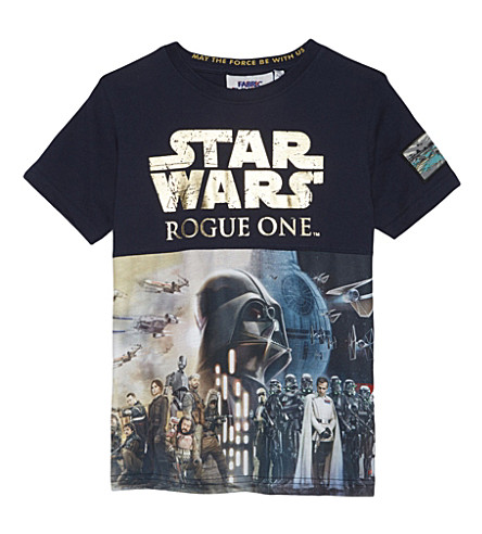 FABRIC FLAVOURS Star Wars Rogue 1 cotton T-shirt 3-10 years (Navy