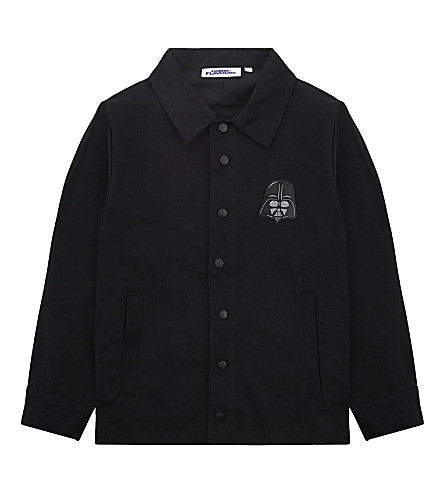 FABRIC FLAVOURS Dark Side cotton coach jacket 3-10 years (Black