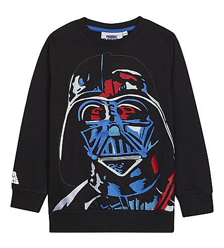 FABRIC FLAVOURS Embroidered Darth Vader sweatshirt 3-10 years (Black