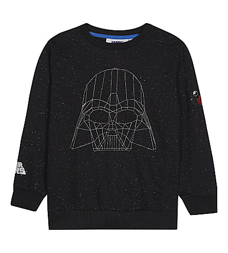 FABRIC FLAVOURS Darth Vader galaxy print sweatshirt 3-10 years (Black