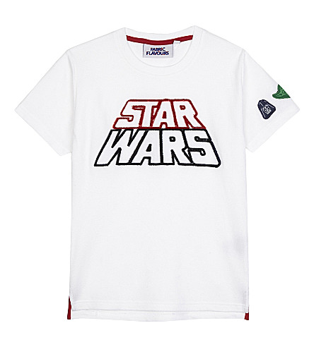 FABRIC FLAVOURS Star Wars tuft logo T-shirt 3-10 years (White