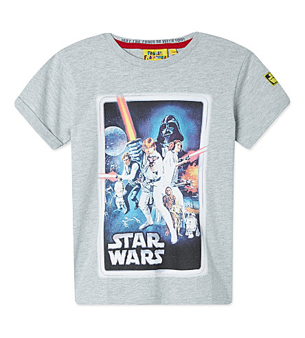 FABRIC FLAVOURS Star Wars 'A New Hope' poster t-shirt 3-8 years (Grey