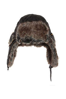 BARBOUR Quilted faux fur hunter hat XS-L