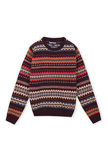 BARBOUR Fair Isle crew-neck jumper