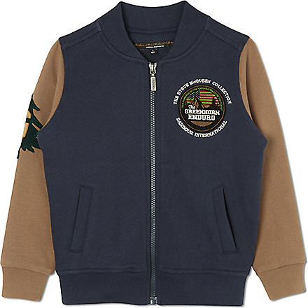 BARBOUR Baseball sweat jacket (Navy