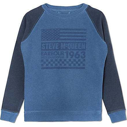 BARBOUR McQueen sweatshirt (Blue