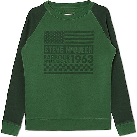BARBOUR McQueen sweatshirt (Green