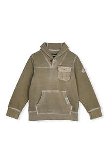 BARBOUR Pocket detail shawl neck jumper 2-9 years