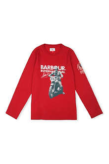 BARBOUR Printed cotton jersey top