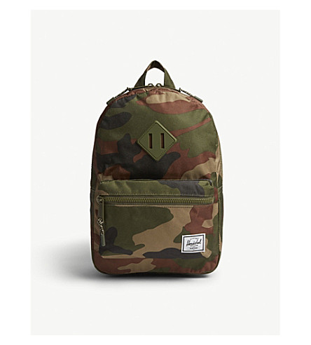 HERSCHEL SUPPLY CO Heritage woodland camouflage canvas backpack