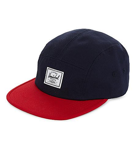 HERSCHEL SUPPLY CO Glendale cotton cap (Navy/red