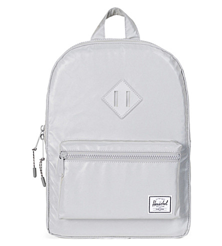 HERSCHEL SUPPLY CO Kids Heritage reflective backpack (Silver