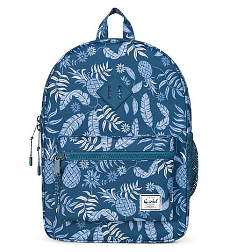 HERSCHEL SUPPLY CO Youth Heritage tropical-print backpack (Aloha+majolica+blue