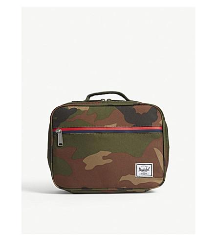 herschel supply co pop quiz camouflage lunch box selfridges com