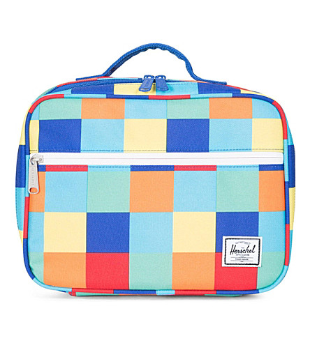 HERSCHEL SUPPLY CO Pop Quiz square-print lunchbox (Primary