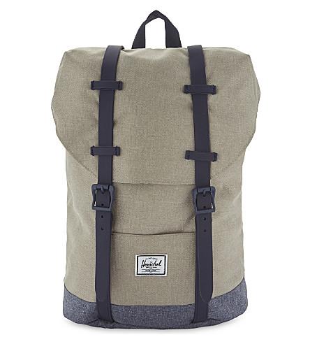HERSCHEL SUPPLY CO Retreat canvas backpack (Light+khaki