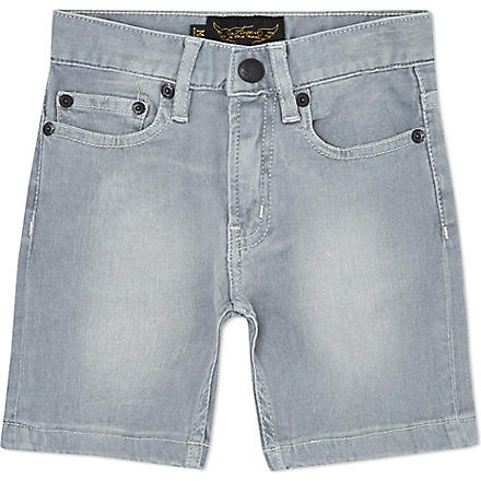 FINGER IN THE NOSE Nasty five-pocket shorts 4-14 years (Grey