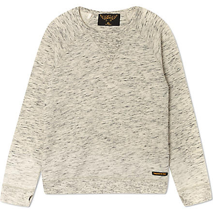 FINGER IN THE NOSE Hank crew neck sweatshirt 4-14 years (Grey