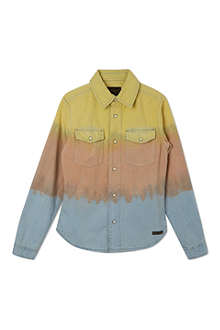 FINGER IN THE NOSE Dip dye denim shirt 4-14 years