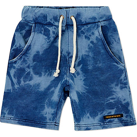FINGER IN THE NOSE Alrick sweat shorts 4-14 years (Indigo
