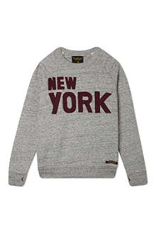 FINGER IN THE NOSE New york marled sweatshirt 4-16 years