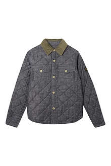 FINGER IN THE NOSE Fitn david quilted overshirt