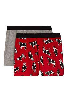 HATLEY Cow print boxers 2-8 years