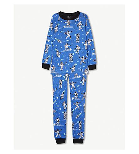 HATLEY Astronaut print cotton pyjamas 4-12 years (Blue+mischief